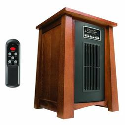 Haier 3 Setting 1500W 5100BTU Infrared Heater w/Oak Finish &