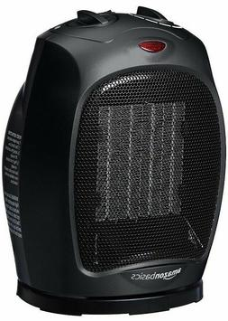 AmazonBasics 1500 Watt Oscillating Ceramic Space Heater Adju