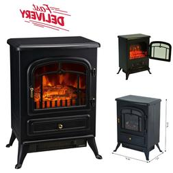 Indoor Vent Free Electric Fireplace Space Heater 1500W Adjus