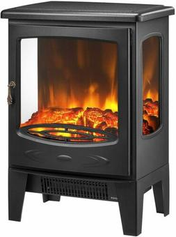 1500W Electric Fireplace Heater Freestanding Stove with Real