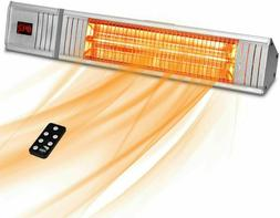 1500W Electric Infrared Patio Heater Wall Remote Control Tim