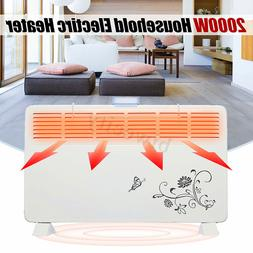 2000W Electric Heater Fan Wall Mounted 6 Air Outlet 2 Speeds
