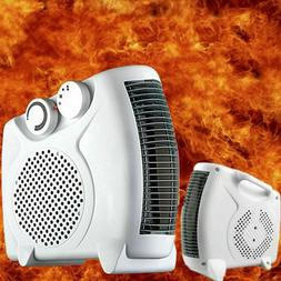 500W Portable Electric Heater Fan Timing Air Warmer 3 Speeds