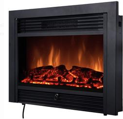 Costway 28.5 Fireplace Electric Embedded Insert Heater Glass