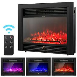 "28.5"" Fireplace Electric Embedded Insert Heater Glass Log Fl"