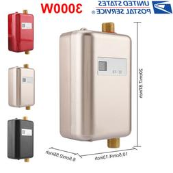 3000W 110V Tankless Instant Electric Hot Water Heater Kitche
