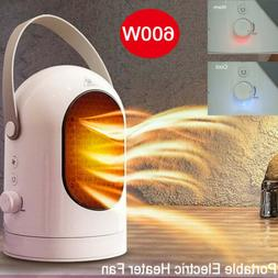 600W Electric Portable Space Heater Fan Summer Air Colder Of