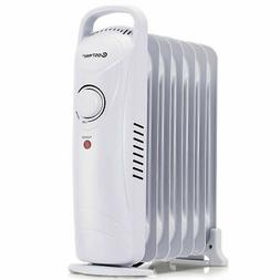 700W Portable Electric Oil Filled Radiator Heater 7-Fin Safe