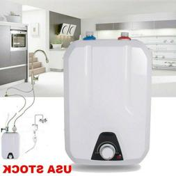 8L Electric Tankless Hot Water Heater 1500W Kitchen Bathroom