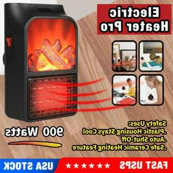 900W Electric Ceramic Portable Heater Fan Quick Heat Up Quie