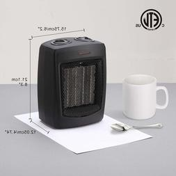 Andily Small Electric Space Heater Ceramic with Thermostat -