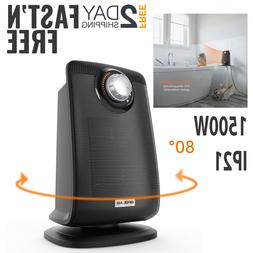 Bathroom Small Space Heater With Thermostat Waterproof Elect