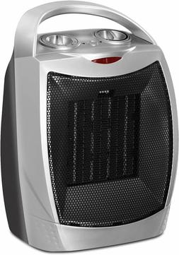 Ceramic Space Heater 750W/1500W Adjustable Thermostat Utopia