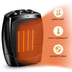 Space Heater - Portable Electric Heater with Adjustable Ther
