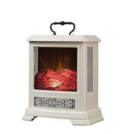 Duraflame Electric DFS-7515-04 Fireplace Stove Heater, Cream