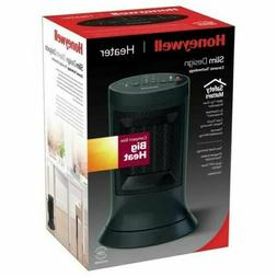 Honeywell Digital Ceramic Compact Tower Black Heater, Slim D