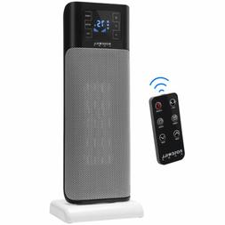 Electric Ceramic Tower Heater, 900/1500W Portable Oscillatin