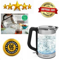 Electric Kettle | BPA Free with Borosilicate Glass & Stainle