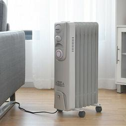 Electric Oil Filled Radiator Heater 1500W 7-Fin Timer with A