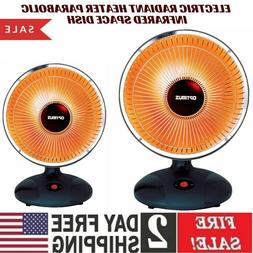 Electric Radiant Heater Parabolic Infrared Space Dish Home I