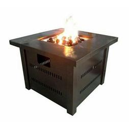 Fire pit with Cover - Hammered Bronze powder coated finish