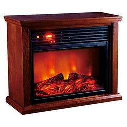 Optimus H-8261 Fireplace Infrared Heater with Remote, LED Di