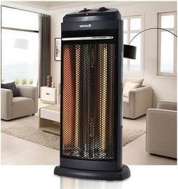 Costway Heating Radiant Fire Tower Infrared Electric Quartz