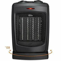 HOME-CHOICE Small Ceramic Oscillating Space Heater Electric