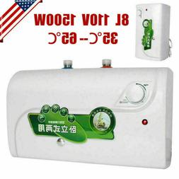 Horizontal 110V 8L Electric Tankless Hot Water Heater Kitche