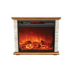 Lifesmart Infrared Large Infrared Faux Stone Fireplace with