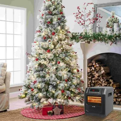 Portable Electric Heater 12H Remote