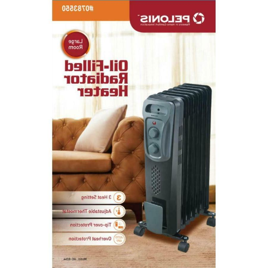 PELONIS Oil-filled Compact Electric w/ Thermostat