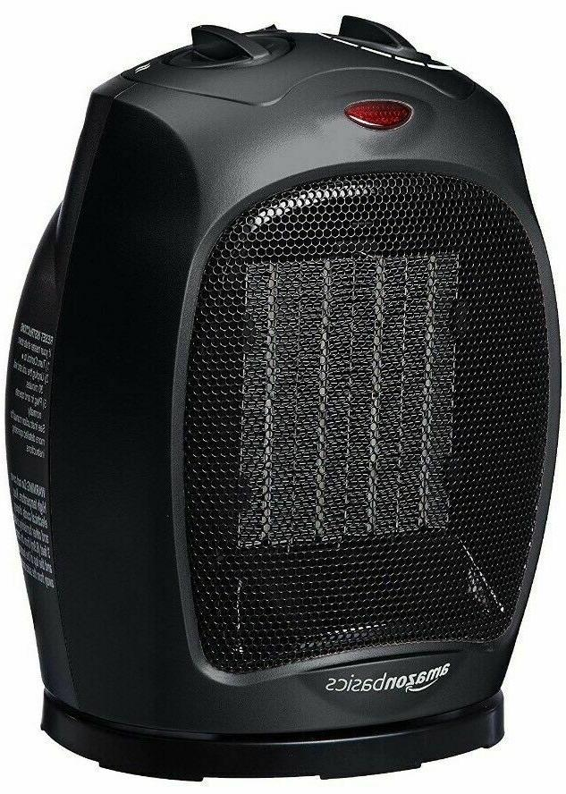 1500 watt oscillating ceramic space heater adjustable