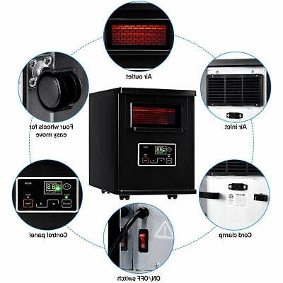 Goplus 1500W Electric Infrared Space Heater Filter Remote