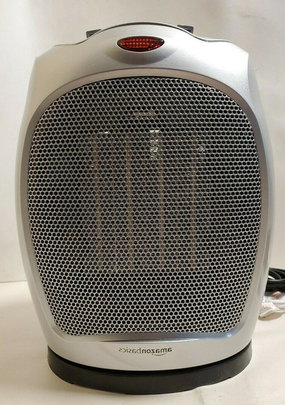 1500w oscillating ceramic heater with adjustable thermostat