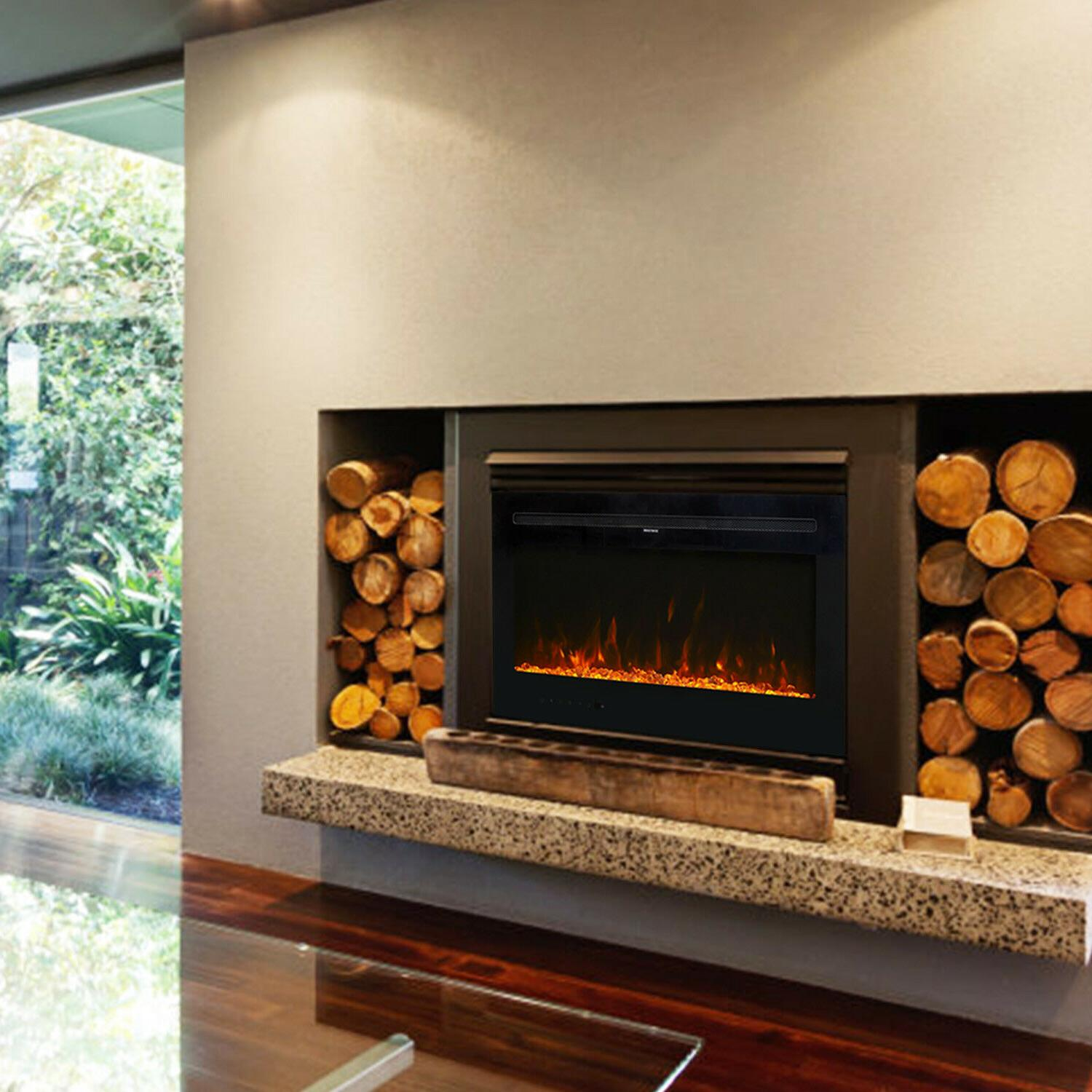 """36"""" Mount Fireplace Multi-Color Flame with 750/1500W"""