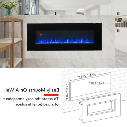 """50"""" Mounted Electric Fireplace Heater w/Remote"""