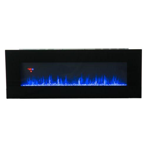 """50"""" Wall Fireplace Heater Multicoloured"""