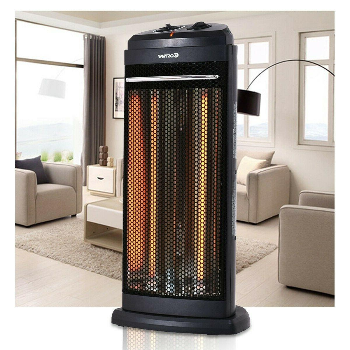 Electric Quartz Heater Overheating Radiant Auto Off Fire Tow