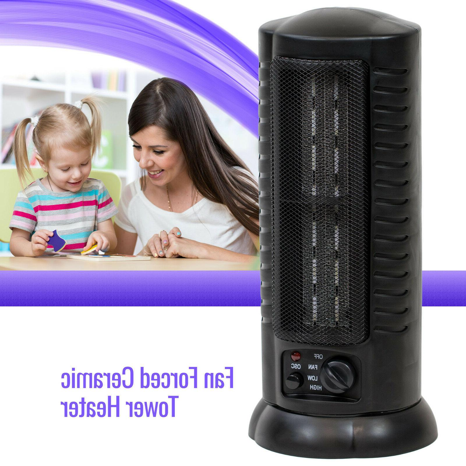 fan forced oscillating ceramic space heater tower