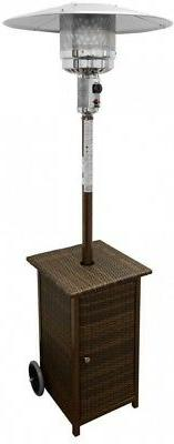 AZ Patio Heaters HLDS01-WHSQ Tall Square Wicker Patio Heater