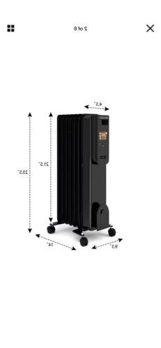 COSTWAY Oil Filled Radiator Heater, 1500W Portable Heater wi