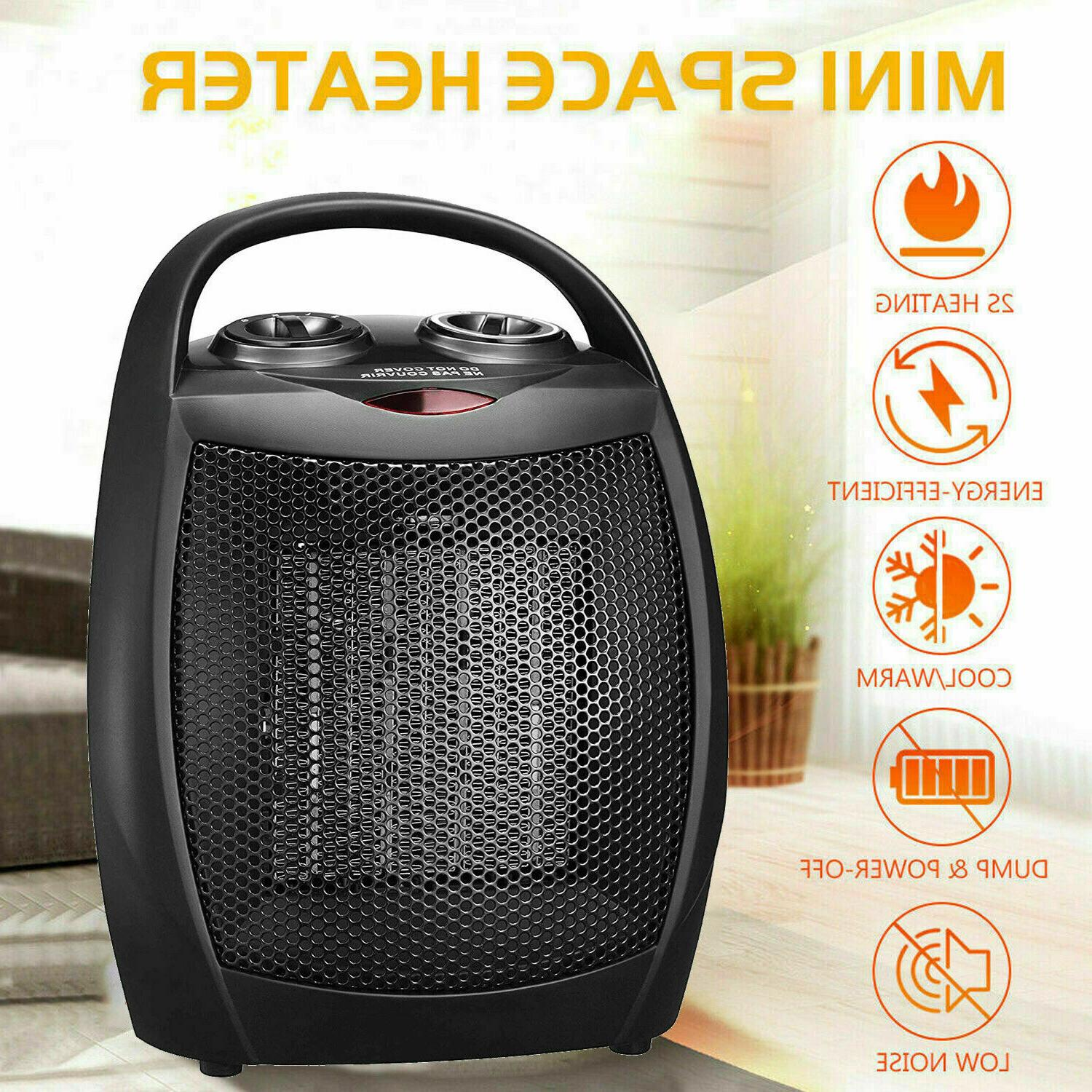 Portable Ceramic Space Heater Mini 1500W Electric Adjustable