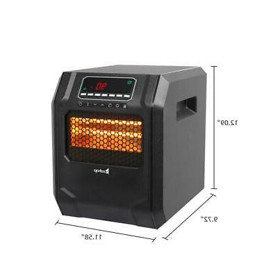 Portable Electric Infrared Heater 1500W Remote Control