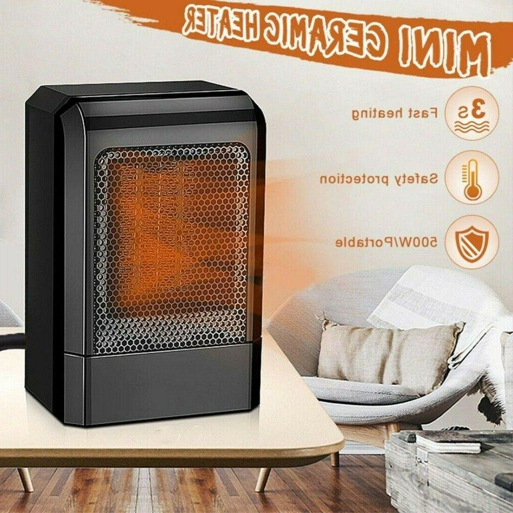 500W MINI CERAMIC ELECTRIC HEATER HOME OFFICE SPACE HEATING