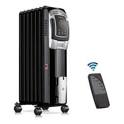 HL Oil Filled Radiator Heater, Portable Space Heater, Remote