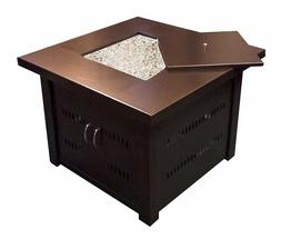Patio Heaters Fire Pit, Propane in Two Tone Hammered Bronze