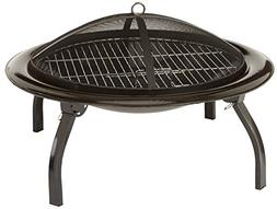 AmazonBasics 26-Inch Portable Folding Fire Pit NEW 2-Day Shi
