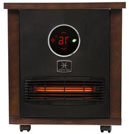 Heat Storm Portable Heater 1500-Watt Wood Radiant Infrared Q