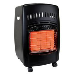 Portable Heater 18K BTU Propane Cabinet Gas Rolls & Warms 60